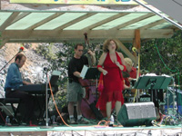 At Texada Island JAZZ ON THE ROCKS FESTIVAL, always dancing...Josh Gellman on Piano, Ken Lister on Bass, Chad Schroter-Gillespie on drums